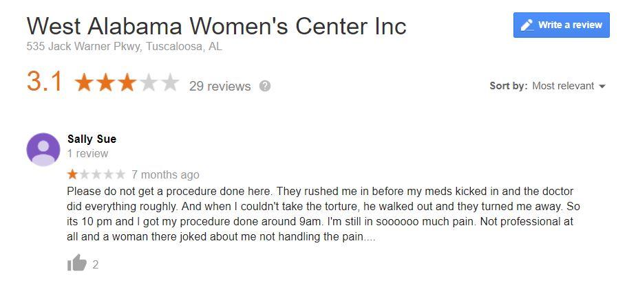 West Alabama Women's Center – Check My Clinic